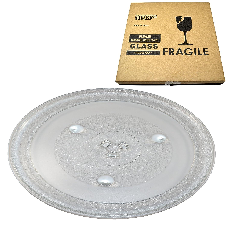 HQRP 12-3/8 inch Glass Turntable Tray for Frigidaire 5304472062 CFCE1439LB CFCE1439LW CFCM1134LS CMWV150KBA FFCE1439LB MMV150 MMV150KBA MWV150 MWV150KBA Microwave Oven Cooking Plate 315mm + Coaster
