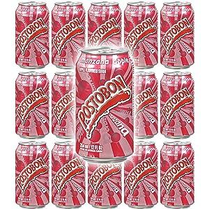 Postobon Manzana 12 oz - Apple Flavored Soda - Low Sodium - 15 Pack