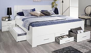 funktionsbett 180 200 wei. Black Bedroom Furniture Sets. Home Design Ideas