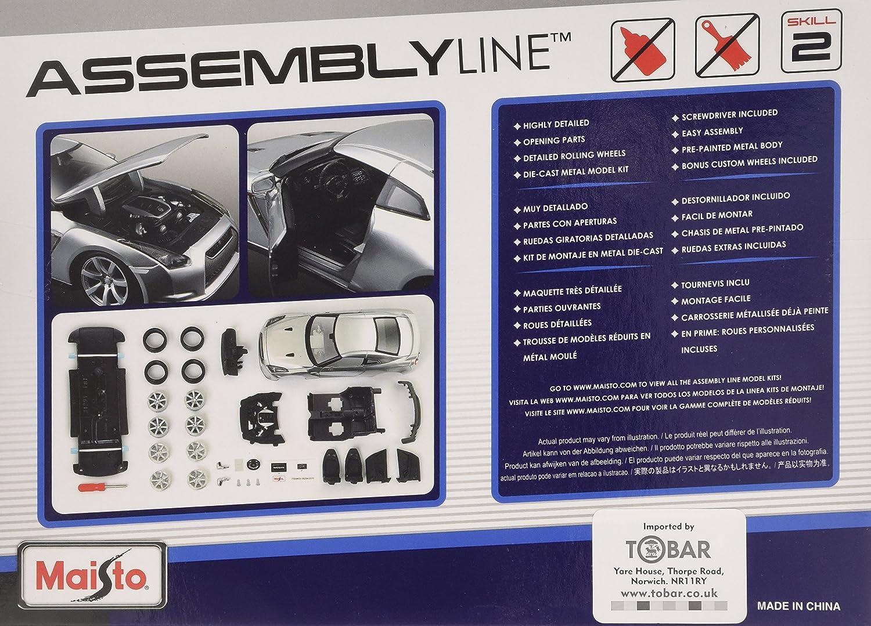 Tobar Maisto kit modelo - Nissan GTR 09 coches - 1:24 - RT39294 - Plata - Date prisa: Amazon.es: Juguetes y juegos