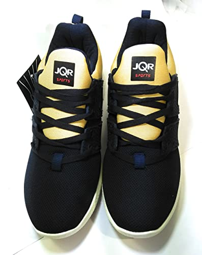 JQR Men's Black Running Shoes (CCD-9026