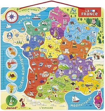 Janod Puzle magnético Mapa de Francia (j05480), Multicolor (Juratoys: Amazon.es: Juguetes y juegos