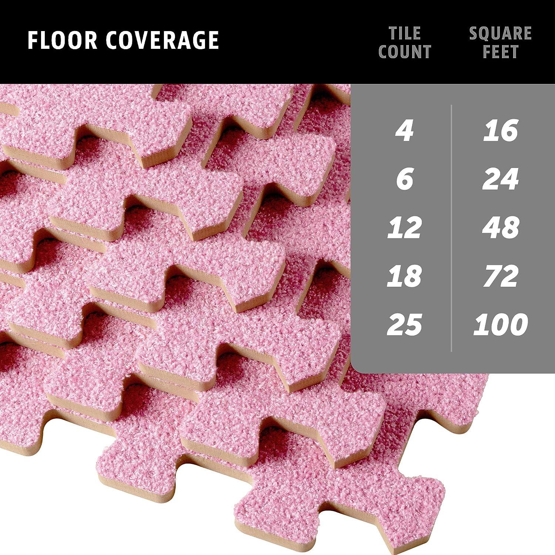 We Sell Mats 24 x 24 x 3//8 Inch Carpet Top Foam Mat 4 Tiles 16 Square Feet Olive Standard