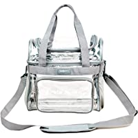 Heavy Duty Clear Lunch Tote Stadium Bag Arena Approved Crossbody (Gray)