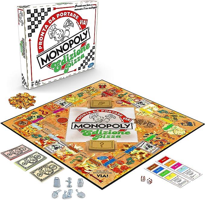 Monopoly Pizza, multicolor, versión italiana: Amazon.es: Juguetes y juegos