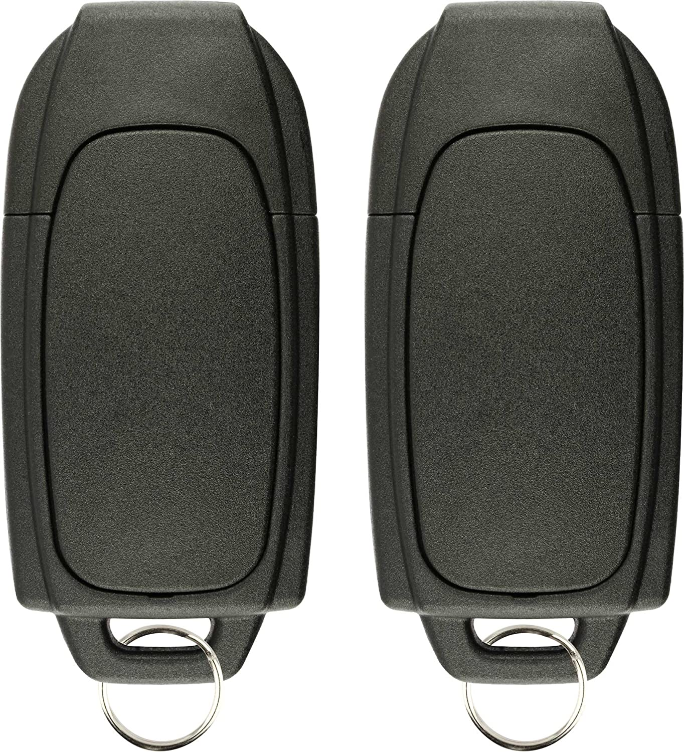 Pack of 2 KeylessOption Keyless Entry Remote Control Uncut Blank Car Ignition Key Fob Replacement for LQNP2T-APU