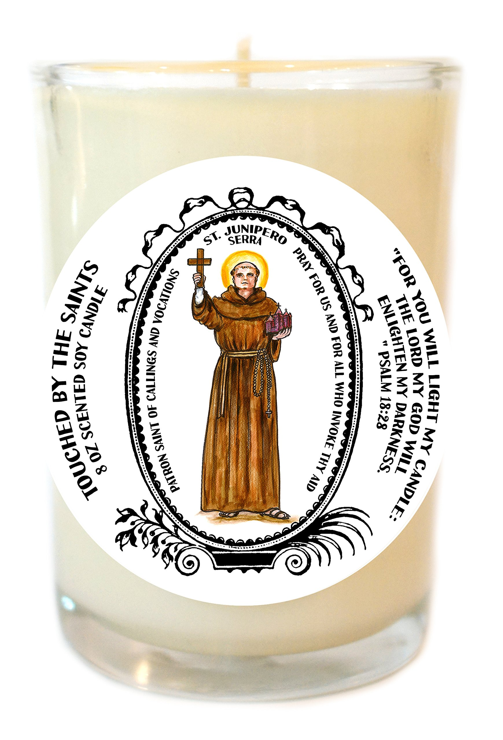 Saint Junipero Serra Patron of Callings & Vocations 8 Oz Scented Soy Candle