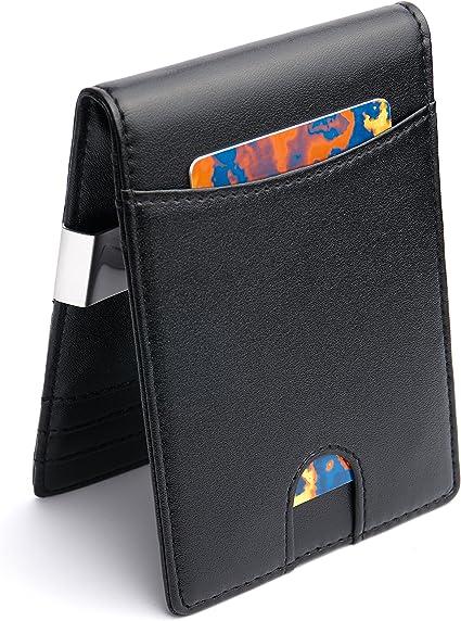 MAKIN Premium Geldbörse mit Geldklammer und Münzfach RFID Schutz