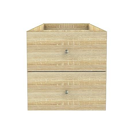 Furniture 247 - Unidad de almacenamiento con 2 cajones ...