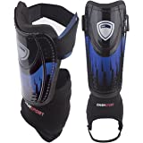 DashSport Soccer Shin Guards -Youth Sizes - by Best Kids Soccer Equipment with Ankle Sleeves - Great for Boys and Girls