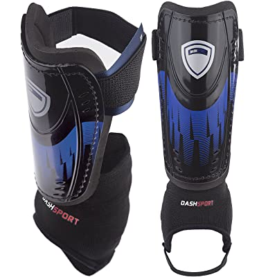 DashSport Soccer Shin Guards -Youth Sizes Best Kids Soccer Equipment
