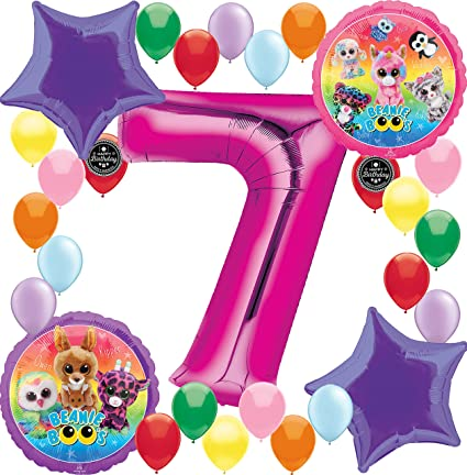 7th birthday party ideas for girl amazoncom combined brands beanie boos girls birthday party supplies balloon decoration bundle for 8th birthday toys games