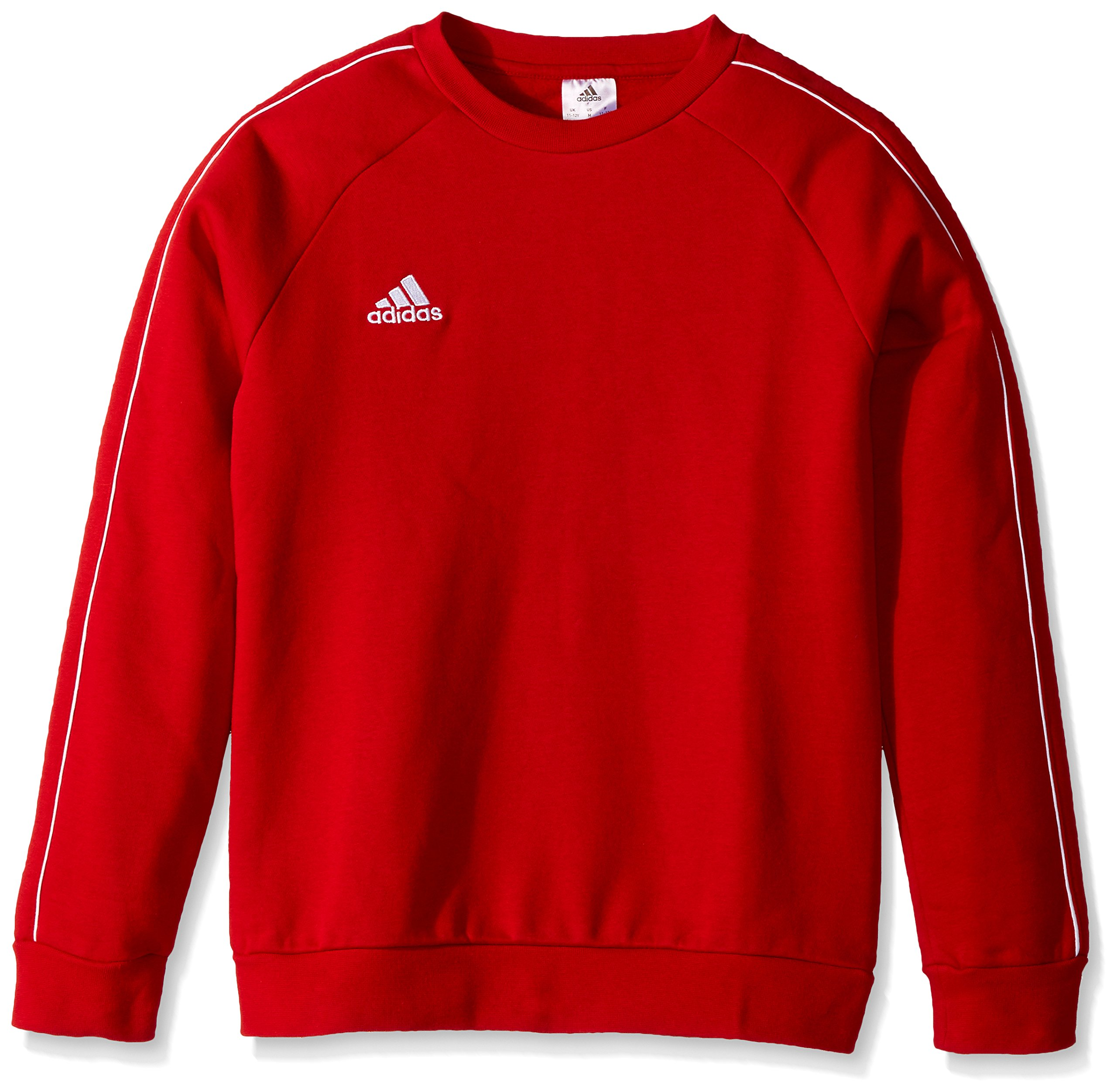 adidas Juniors' Core 18 Soccer Sweatshirt, Power Red/White, X-Small by adidas