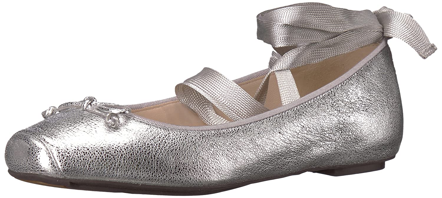 Cole Haan Women's Downtown Ballet Flat B073SQ6L7Y 9 B(M) US|Silver/Metallic