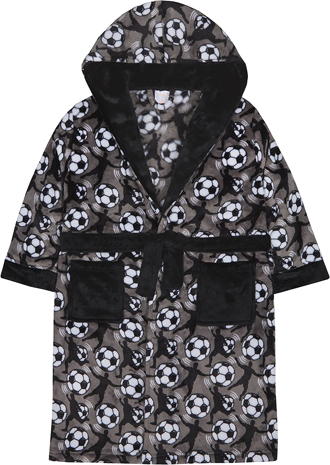4 KIDZ Boys Football Design Fleece Dressing Gown