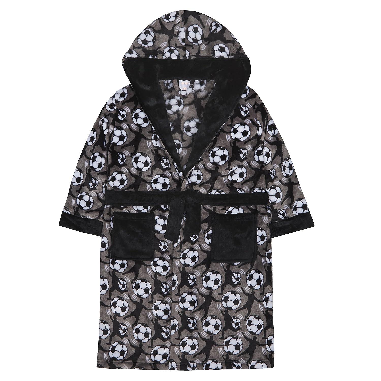 4 KIDZ Boys Football Design Fleece Dressing Gown