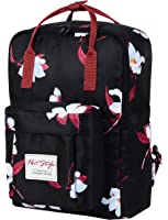 HotStyle Convertible Floral Backpack for Girls - Waterproof fits 14-inch Laptop