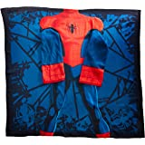"""Spider-Man, """"Spider Up"""" Youth Comfy Throw Blanket with Sleeves, 48"""" x 48"""""""