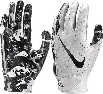 Introducir cocinar una comida Insistir  Amazon.com : Nike Boy's Vapor Jet 5.0 Adjustable Wrist Closure Football  Gloves (White/Black/Medium) : Clothing