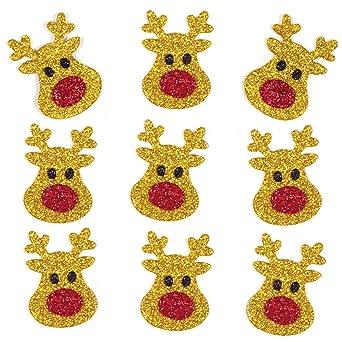 Baker Ross Pegatinas Reno Glitter (Pack de 100) para manualidades y decoraciones navideñas: Amazon.es: Industria, empresas y ciencia