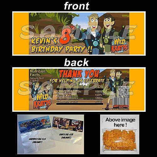 Amazon Wild Kratts Sheet Of 12 Stickers Cupcake Toppers Handmade