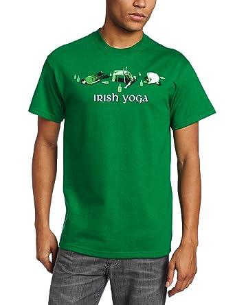 7acd6d1ba T-Line Men's Funny Shirt Irish Yoga Graphic T-Shirt, Kelly Green,