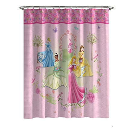 Disney Princess Microfiber Shower Curtain Features 4 Princesses 70in X 72in Amazonin Home Kitchen