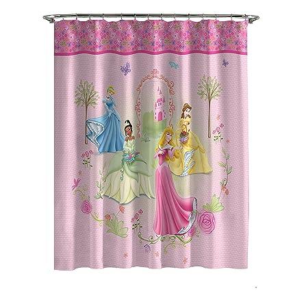 Disney Princess Microfiber Shower Curtain Features 4 Princesses 70in X 72in
