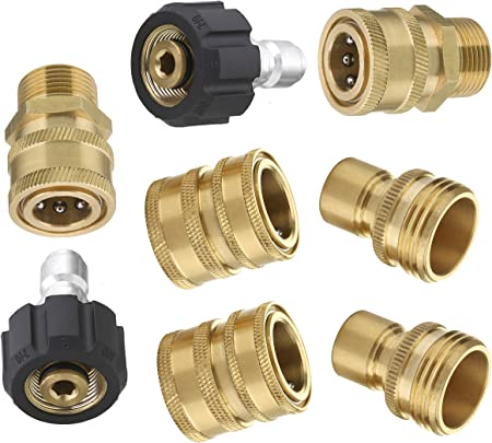M MINGLE Ultimate Pressure Washer Hose Connector Kit