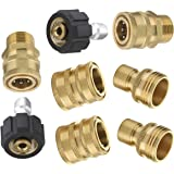 Mingle Ultimate Pressure Washer Adapter Set, Quick Disconnect Kit, M22 Swivel to 3/8 Inch Quick Connect, 3/4 Inch to Quick Release, 8-Pack