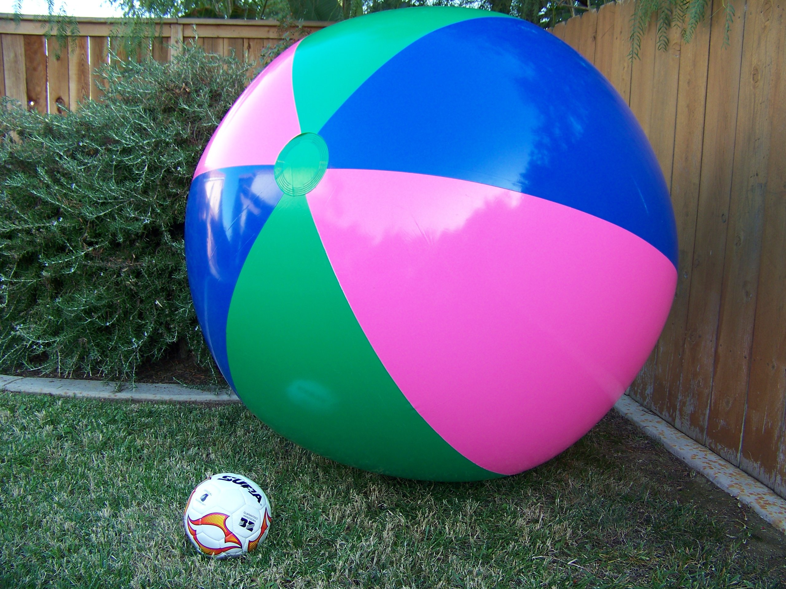 51'' or (4 1/4 ft.) Tall Inflatable Large Beach Ball, Party Fun, Monster Ball Giant XXL by Petra