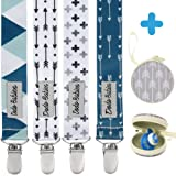 Amazon Price History for:Pacifier Clip by Dodo Babies Pack of 4 + Pacifier Case, Premium Quality Modern Designs Universal Holder Leash for Boys and girls, Teething Toy or Soothie
