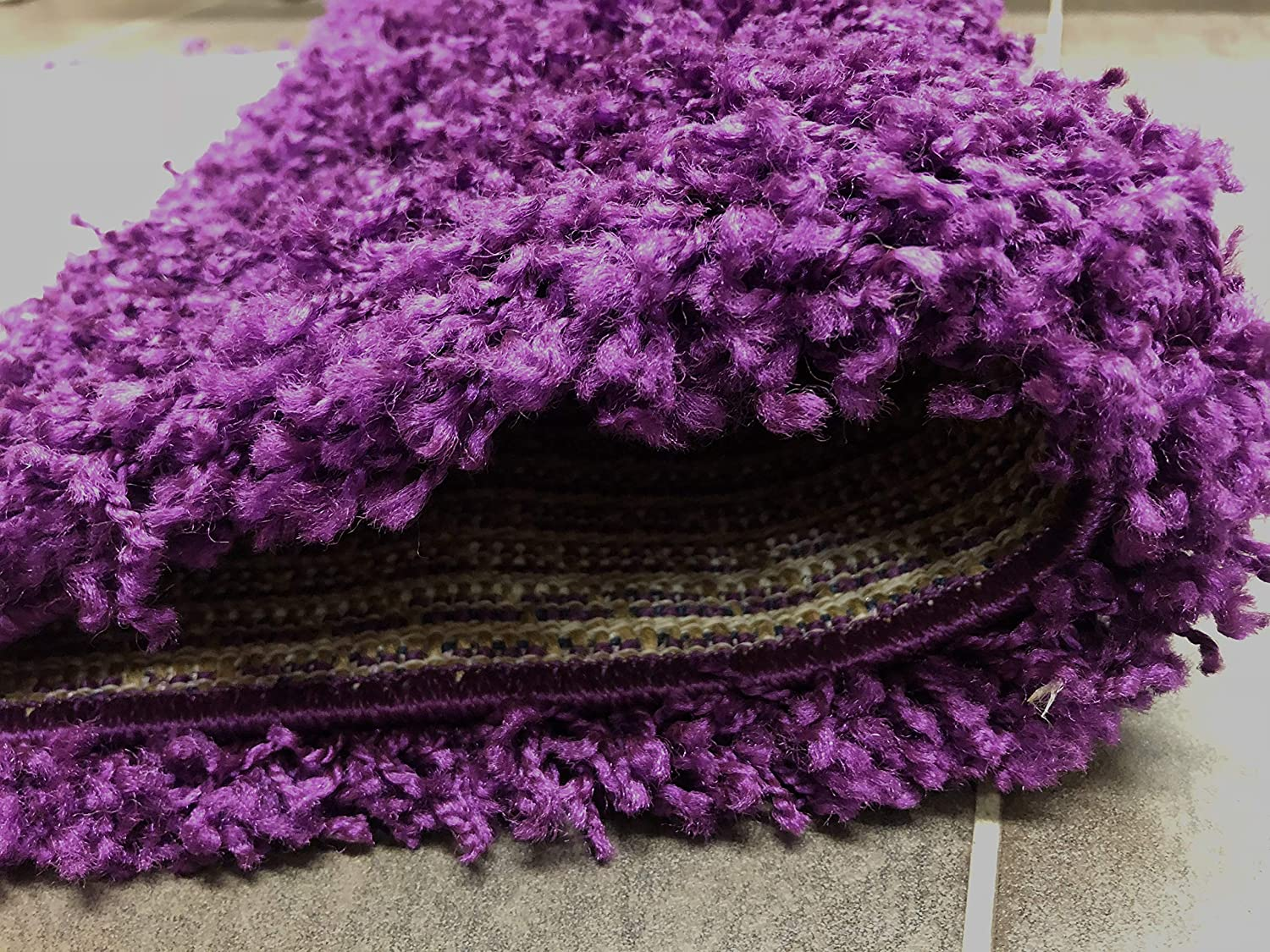 50cm x 80cm 1ft 8 x 2ft 7 SuperRugStore Shaggy Thick Modern Luxurious Purple Rug High Pile Long Pile Soft Pile Anti Shedding Available in 9 Sizes