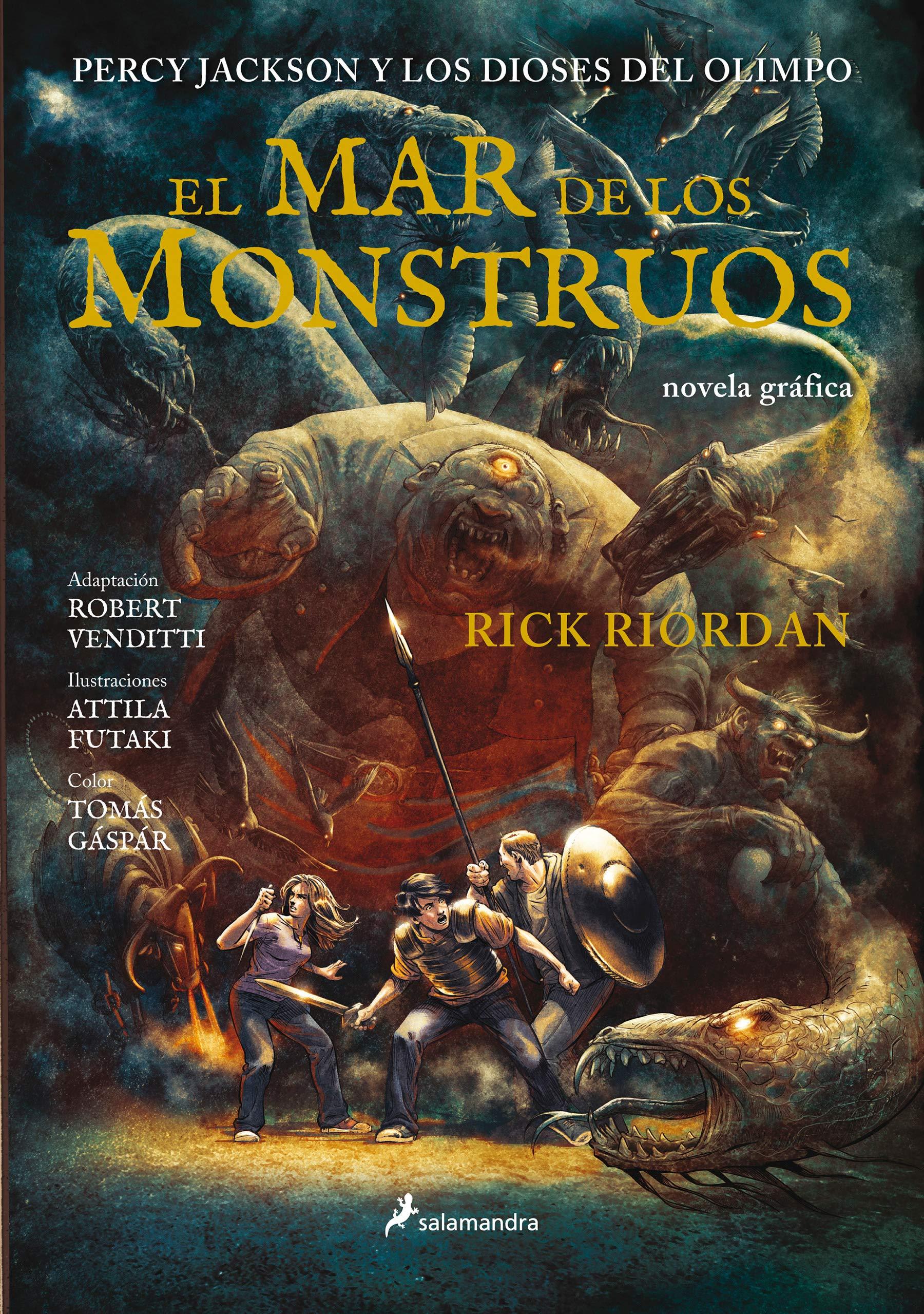 El mar de los monstruos Percy Jackson y los dioses del Olimpo novela gráfica 2 : Percy Jackson y los Dioses del Olimpo II: Amazon.es: Riordan, Rick: Libros