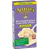 Annie's Homegrown Rice Pasta (Gluten-Free) - Shells & White Cheddar - 6 oz