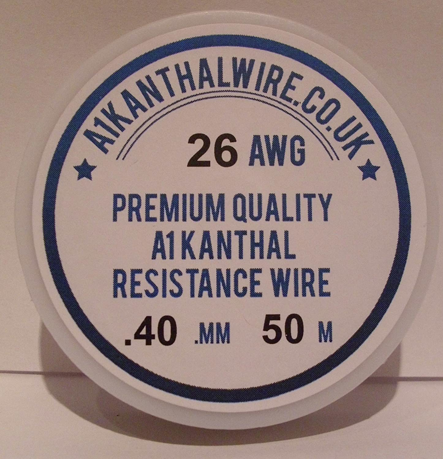 Kanthal A1 Typ Widerstand Draht – (26AWG) -0.40 mm 50 Meter Spule ...