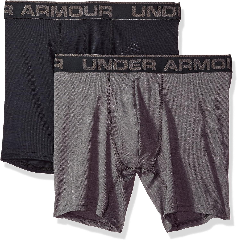 Under Armour Men's Mesh Series 6-inch Boxerjock 2-Pack: Clothing