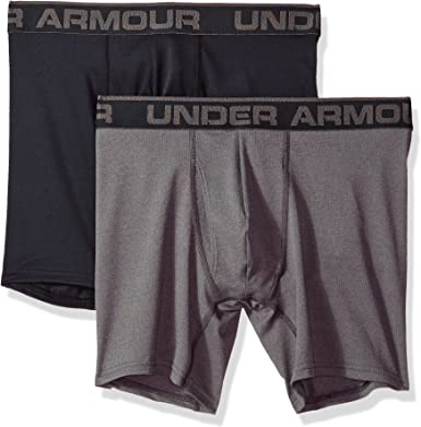 Under Armour Mens Tech Mesh 6-inch Boxerjock 2-Pack
