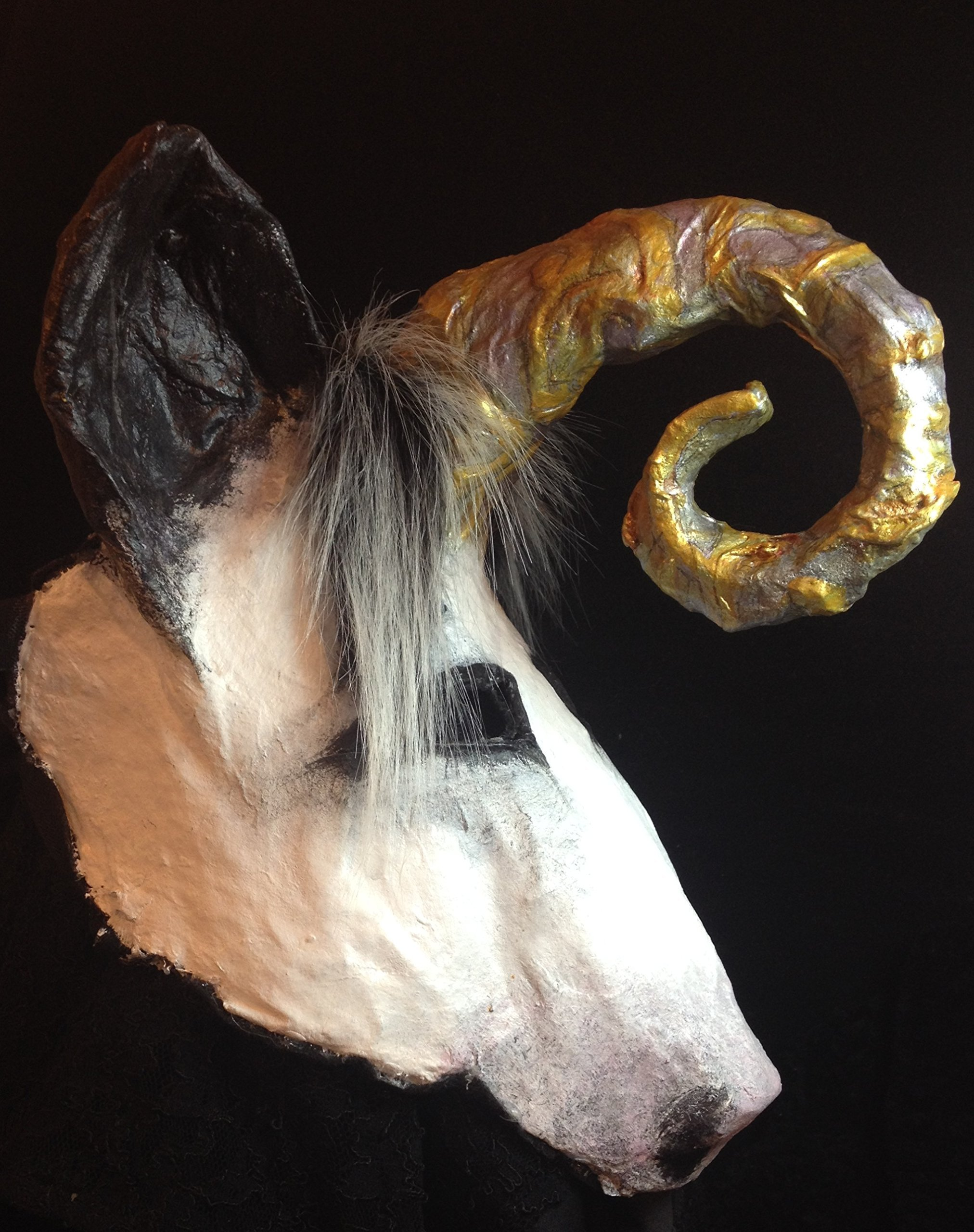 Unicorn mask, a magical cosplay mask. Fantastic animal mask for adult or kid. A unique original party character and fursona. Designer mask, with backstory. Great for photoshoots, Halloween, or costume