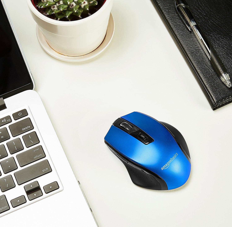 Ergonomische kabellose Maus Basics Schwarz DPI einstellbar