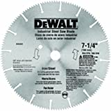 DEWALT DW3330 7-1/4-Inch Iron and Steel Cutting Segmented Saw Blade with 5/8-Inch and Diamond Knockout Arbor