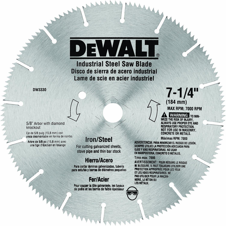 Hoja de Sierra DEWALT DW3330 7 1 / 4i Corte de hierro y acer