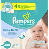 Pampers Baby Fresh Water Baby Wipes 7X Pop-Top Packs, 448 Count