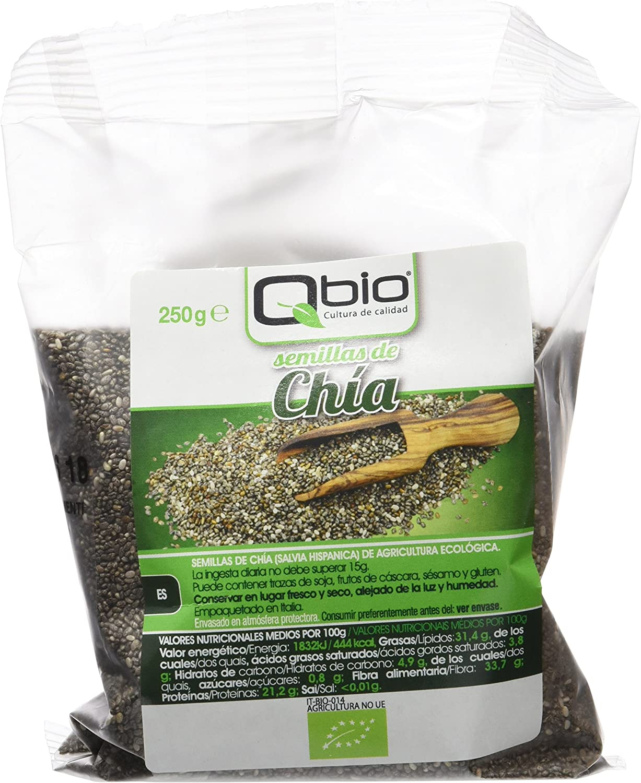 Qbio Semillas de Chía - 6 Paquetes: Amazon.es: Alimentación y bebidas