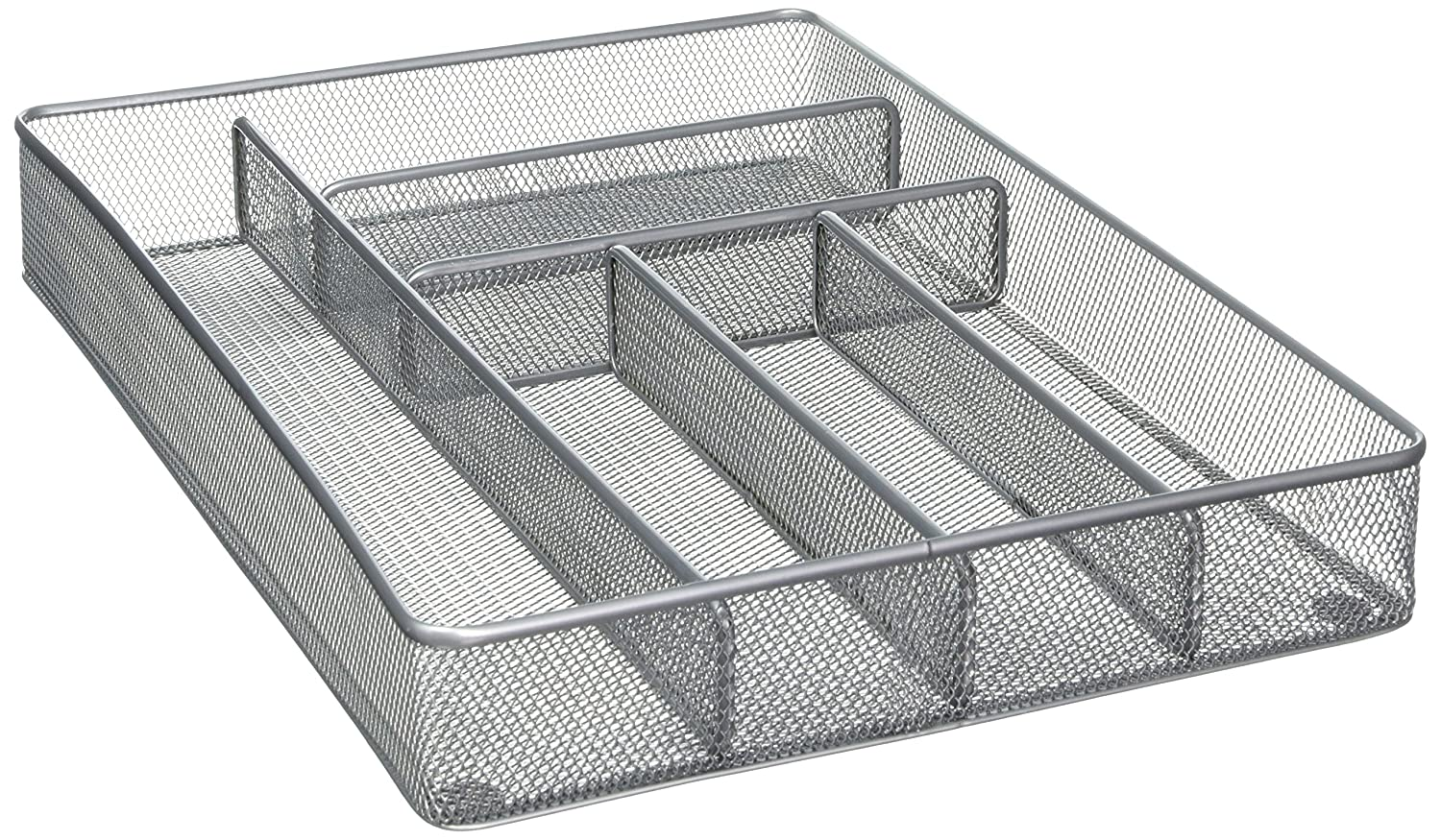 Mesh Silverware Storage with Foam Feet