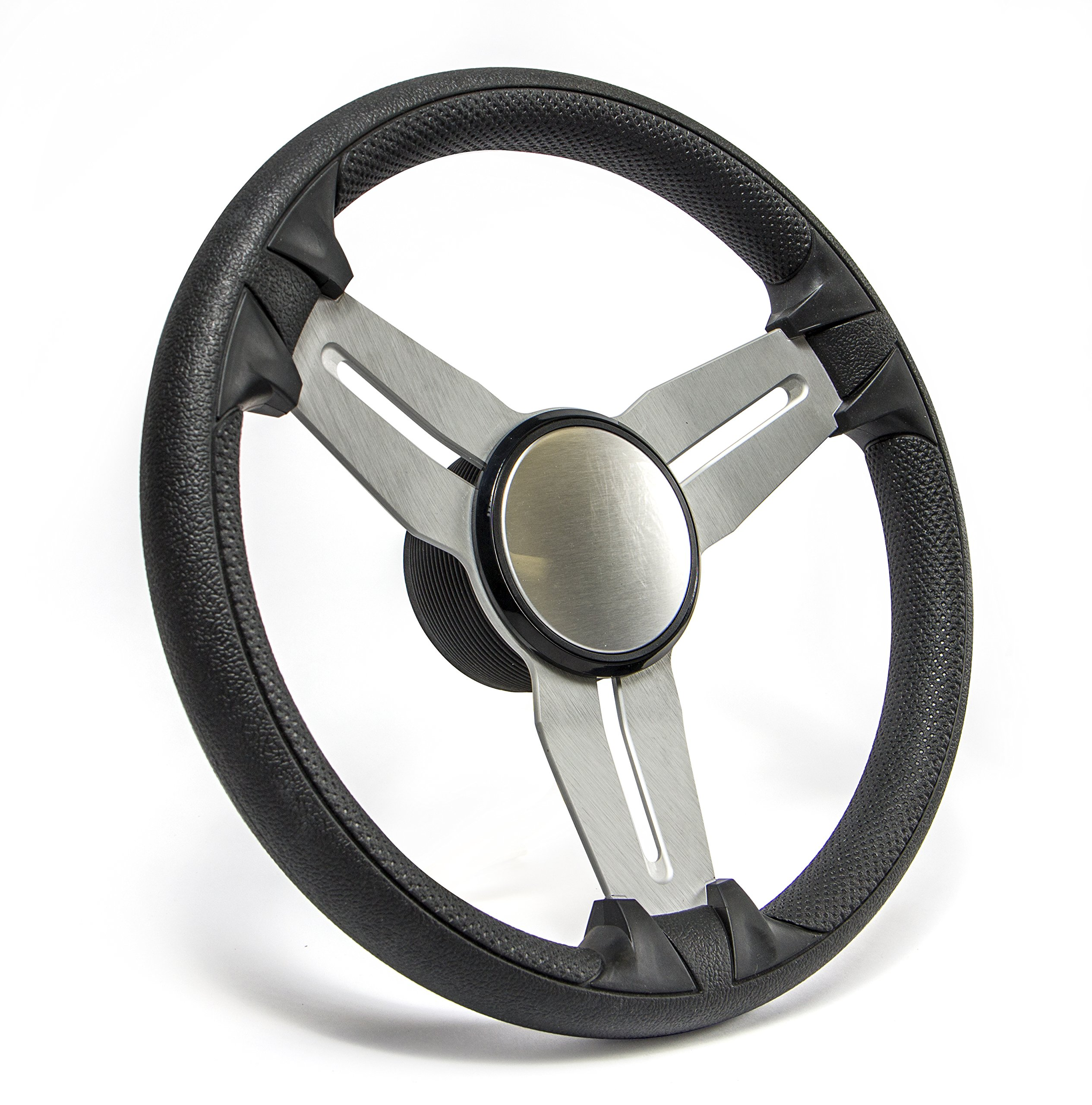 SeaStar Commander SW60900P Steering Wheel, Commander 13-1/2 inch, 3 Spoke Equidistant by SeaStar
