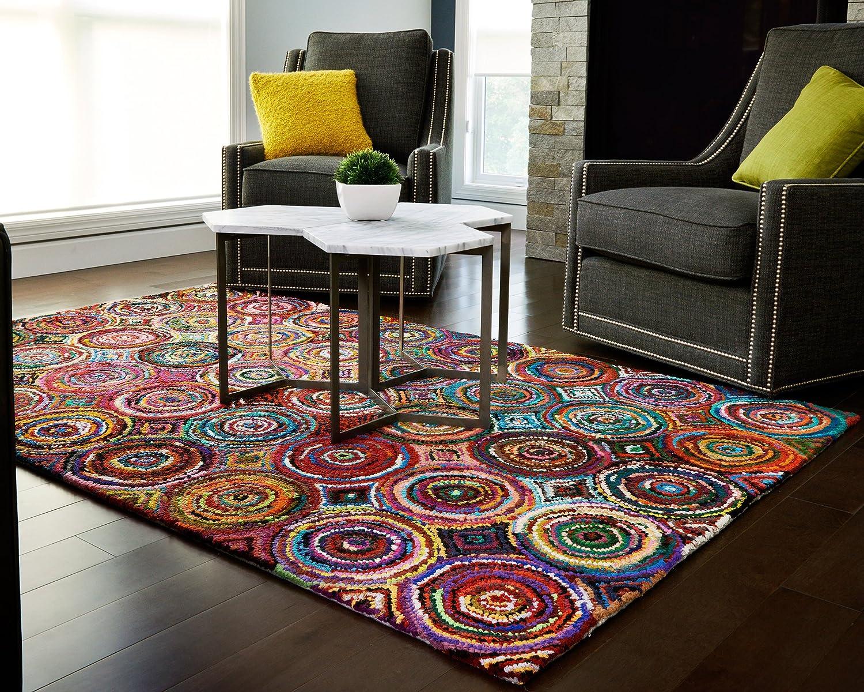 Amazon.com: Anji Mountain Tangier Area Rug, Multicolor, 4 x 6-Feet ...