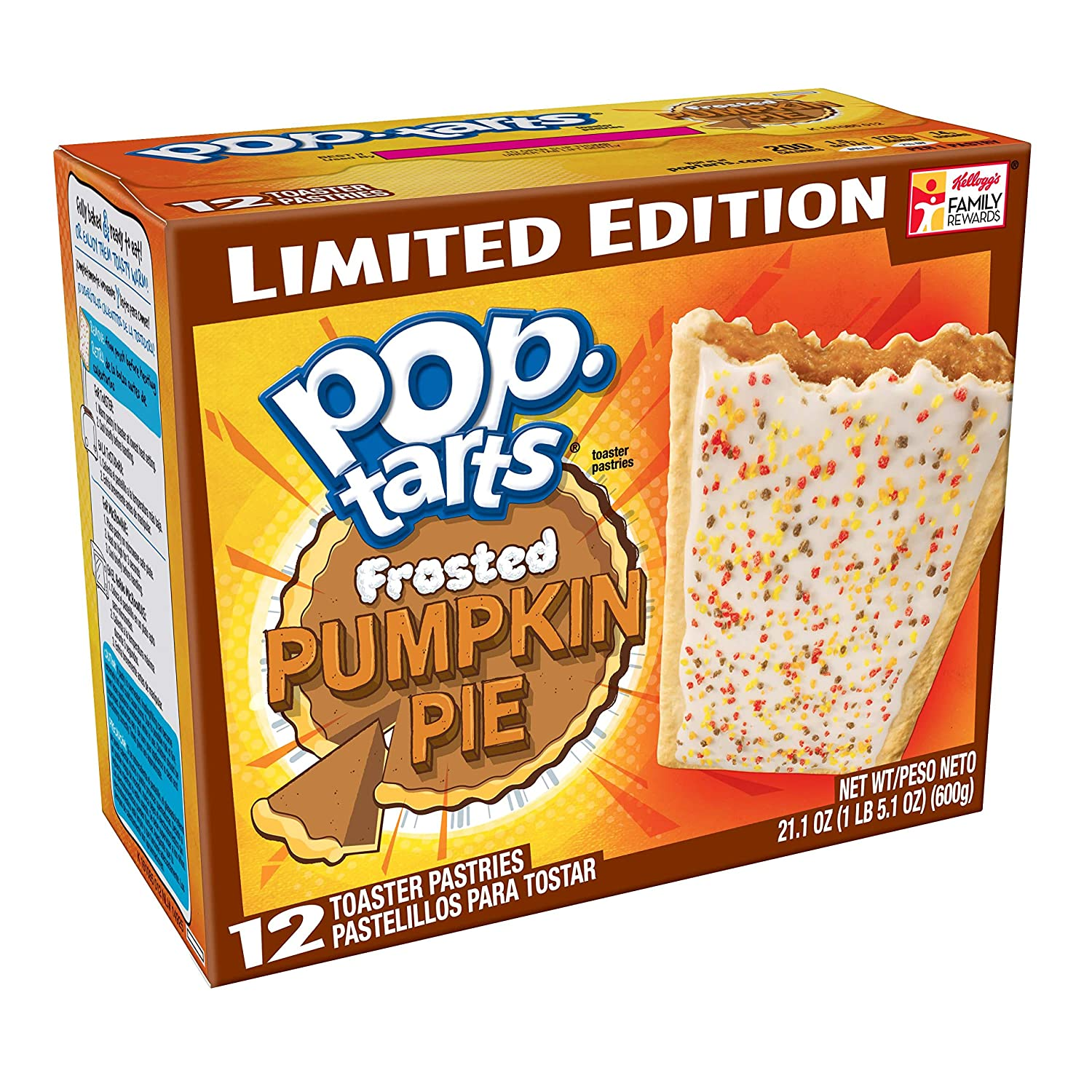 Pop-Tarts BreakfastToaster Pastries, Frosted Pumpkin Pie Flavored, Limited Edition, 21.1 oz (12 Count)