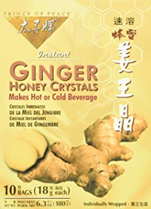 Prince Of Peace Ginger Honey Instant Crystal Tea - 10 bags per pack - 6 packs per case.