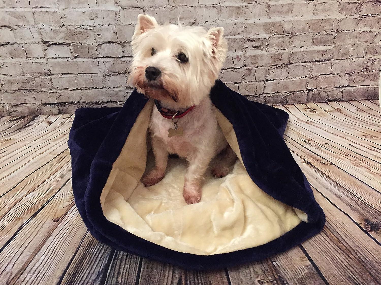 Snuggle saco/saco de dormir/Mascotas Cama para perros y gatos por Pet de Lola Snow Azul Marino y crema: Amazon.es: Productos para mascotas